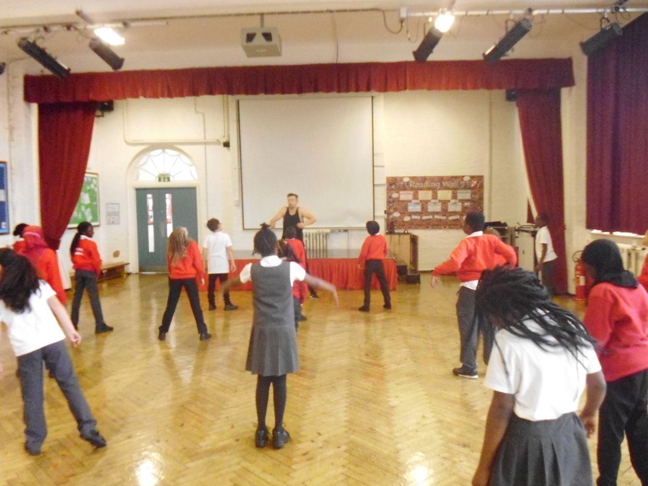 Year 5 - African Dance Workshop - Daubeney Primary School